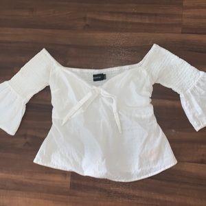 MINKPINK white off the shoulder blouse